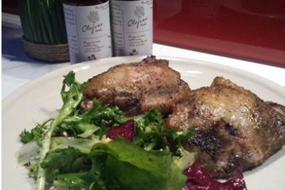 Przepis na kurczaka pieczonego z imbirem i olejem rzepakowym Olejowe Smaki